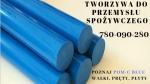Niebieskie wałki z poliacetalu POM-C blue